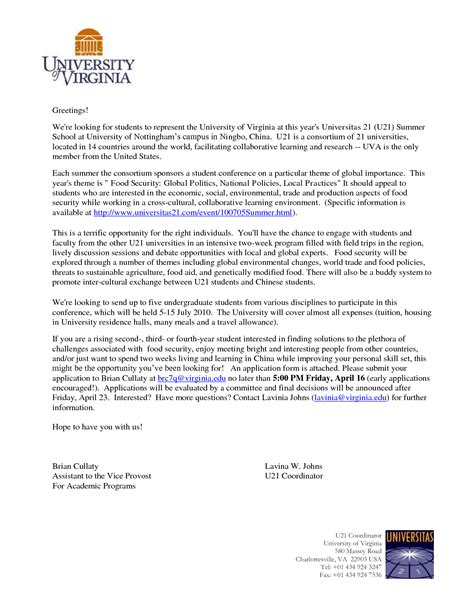 College Application Letter Exles Best Photos Of College Application Letter Sle College Application Letters Exles College