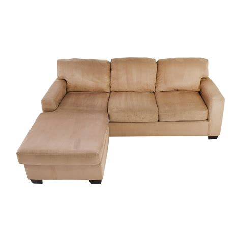 75 Off Max Home Max Home Tan Sectional Chaise Sofa Sofas Sofa Sectional With Chaise
