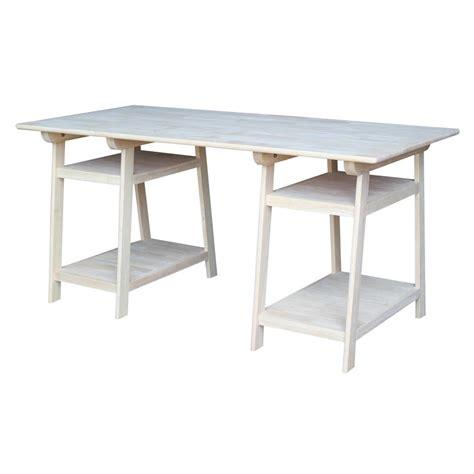 Home Depot Small Desks International Concepts Unfinished Shelves Desk Of 55 The