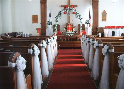 affordable pictures of church wedding decorations on