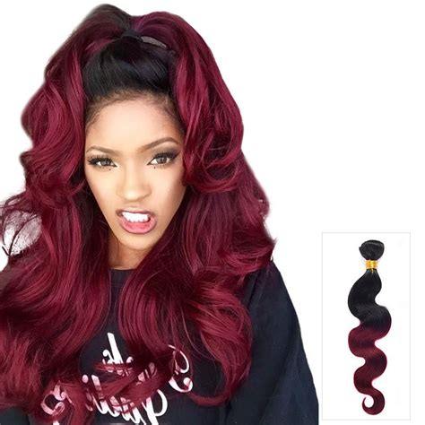99j hair color weave ombre hair extensions wavy with two tone