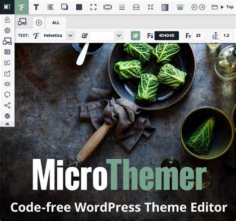 wordpress theme editor visual mighty deals microthemer code free visual wp theme and