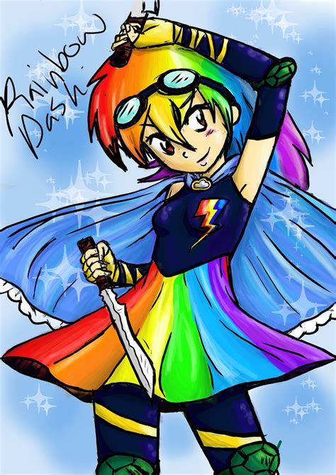 Fk 8d Rainbow Dash Dress magical rainbow dash by xandir1lover on deviantart