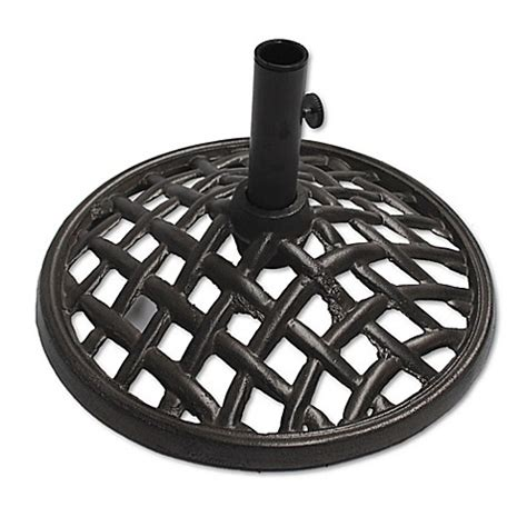 bed bath and beyond davenport agio davenport cast iron umbrella base in grey bed bath beyond