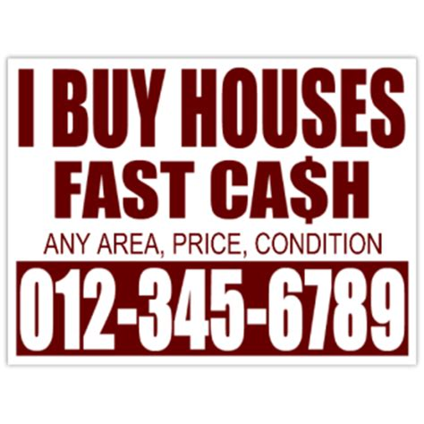 i buy houses signs i buy houses fast cash bandit sign