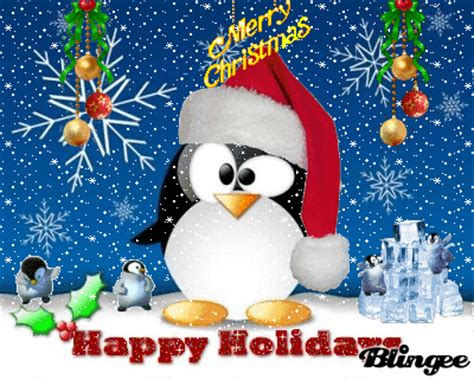 happy feet wishes  merry christmas picture  blingeecom