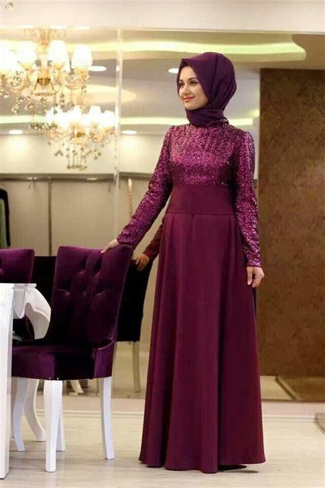 desain long dress pesta model baju muslim pesta pernikahan bahan brokat desain