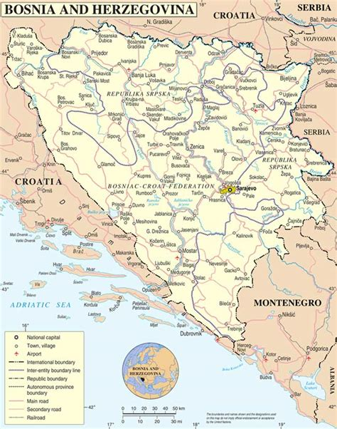 where is bosnia on a world map bosnia hercegovina map map all maps of the world