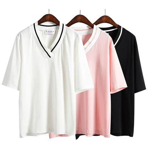 A149 Simple Korean Shirt 2 harajuku shirt summer style 2016 t shirt kawaii korean pink t shirts basic tops