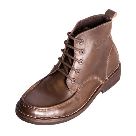 levis brown leather boots levis footwear 217713 mens gents brown leather lace