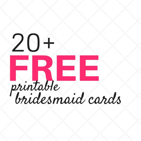 Bridesmaid Card Template Free by 20 Free Will You Be My Bridesmaid Cards Weddings