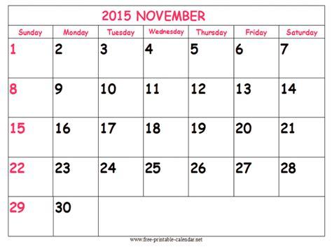 cute november 2015 calendar printable november calendar clip art 13
