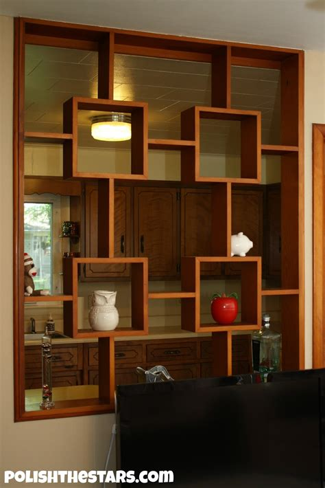 Wall Room Divider Decor Home Interior Design With Half Wall Room Divider And Kitchen Cabinets Plus Ceiling Lighting