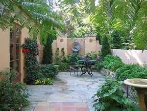 easy patio backyard landscaping ideas with wrought iron