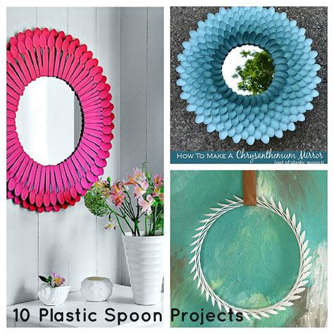 plastic crafts projects how to recycle recycled plastic spoons and forks