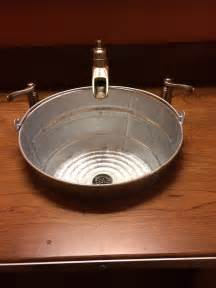 rustic sink made from galvanized recycle and