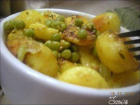 recette pommes de terre marin 233 es et petits pois aux