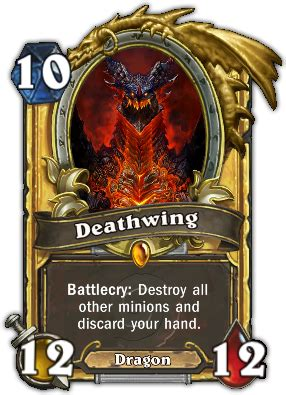hearthstone gold card template deathwing hearthstone card database gosugamers