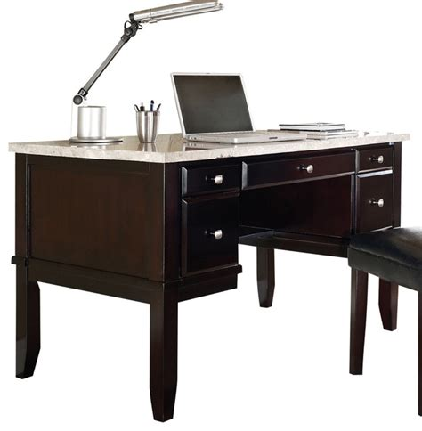 Home Office Desk Marble Top Steve Silver Monarch White Marble Top Writing Desk