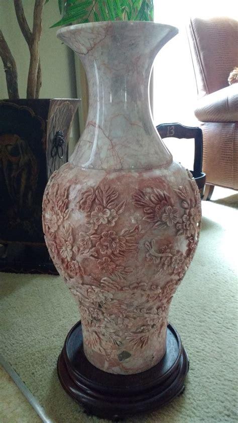 Pink Floor Vase by Carved Pink Marble Floor Vase Collectors Weekly
