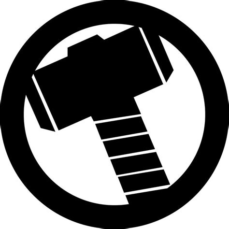 thor hammer le thor s hammer avengers logo decal geek marvel comic