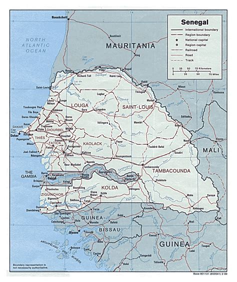political map of senegal detailed political map of senegal senegal detailed
