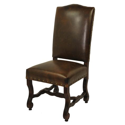 moti 9401102 true leather high back dining chair set of 2