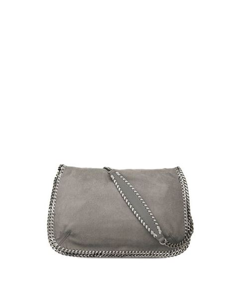 Stella Mccartney Patent Effect Messenger Bag by Stella Mccartney Light Grey Falabella Shaggy Deer