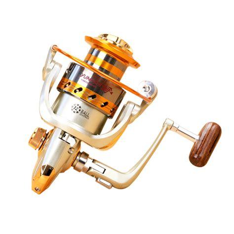 yumoshi gulungan pancing ef6000 metal fishing spinning reel 12 bearing golden