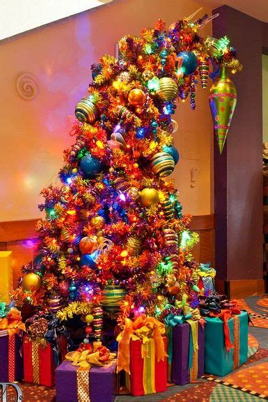 somple kids themd christmas trees in muti colors bent and colorful tree i adore this decor 2 trees