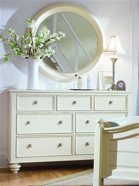 white mirror above dresser white round mirror over dresser nursery for the home