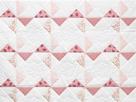 Pink Crib Quilt by Pinwheel Crib Quilt Exquisite Cleverly Made Amish
