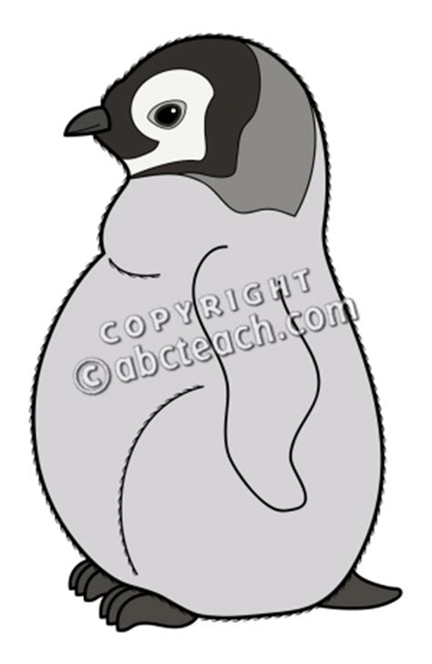 penguin chick coloring page clip art baby animals penguin chick color 1 abcteach