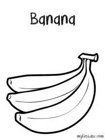 banana coloring page banana coloring page my abc
