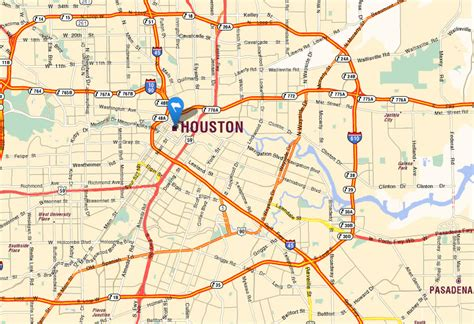houston map usa houston map