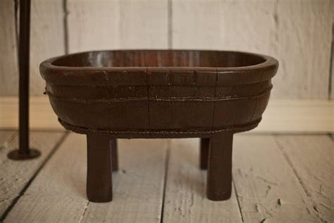 Antique Bathtub Antique Wooden Dough Bowl Trencher Bathtub Plus Faucet