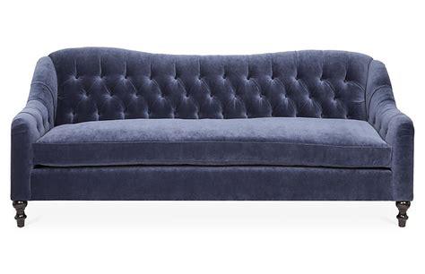 waverly sofa waverly tufted sofa navy velvet kim salmela brands