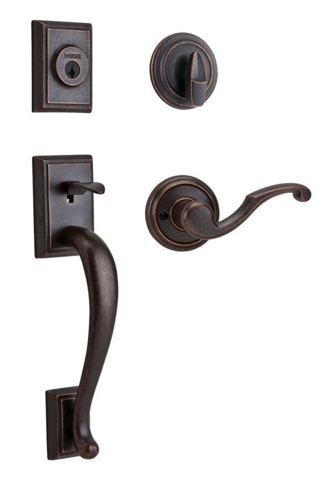 Discount Interior Door Hardware Pemberly Handle Set With Lever Interior Rustic Bronze Finish 9gcl94710 036 Gcl9471 Pb
