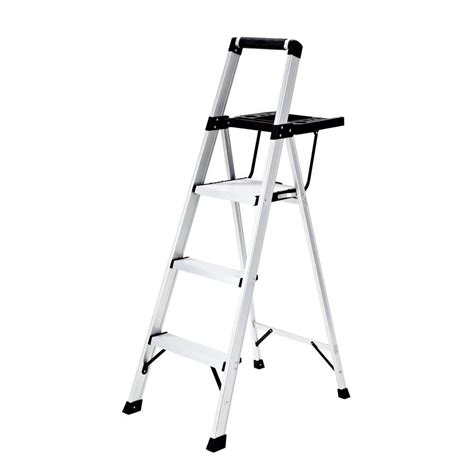gorilla ladders 2 step lightweight steel step stool ladder