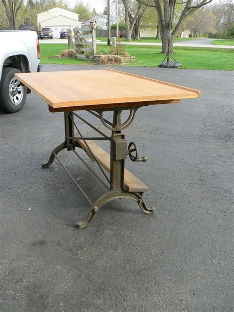 Frederick Post Drafting Table Industrial Age Frederick Post Drafting Table
