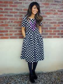 polka dot dress by lularoe love the pockets purple