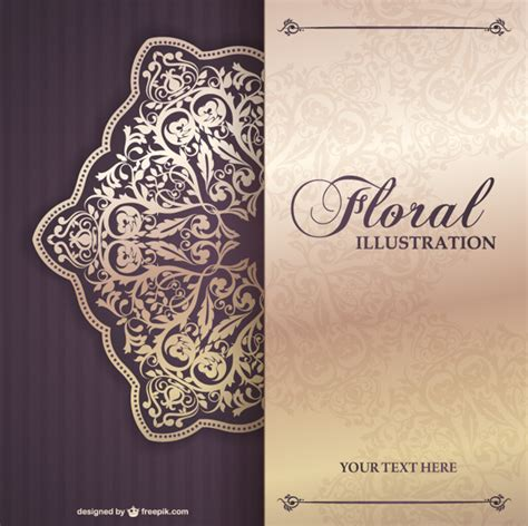 invitation design vector free download floral invitation template vector free download