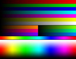 color spectrum test list of console palettes