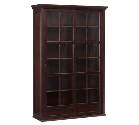 Pottery Barn Cabinet Garrett Glass Cabinet Pottery Barn