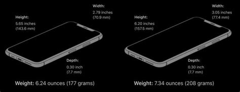 how thick thin is the iphone xs max the iphone faq