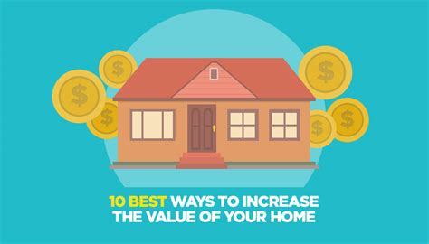 10 best ways to increase the value of your home infographic