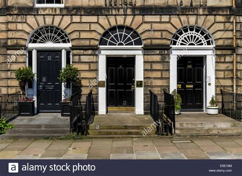 Front Doors Edinburgh Three Adjacent Front Doors On Georgian Townhouses On Heriot Row In Stock Photo Royalty Free