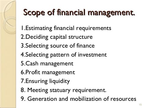 pattern of management theory introduction to financial management