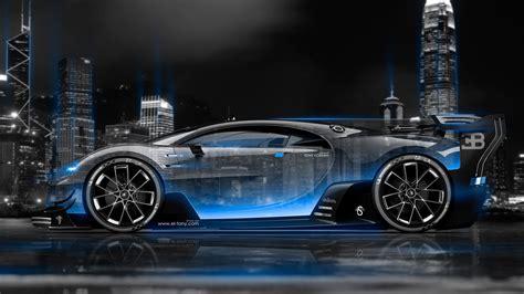 wallpaper 4k bugatti bugatti vision gran turismo side crystal city night car
