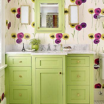 lime green floral hex geometric wallpaper walls republic aga wallpaper vintage bathroom the renovated home